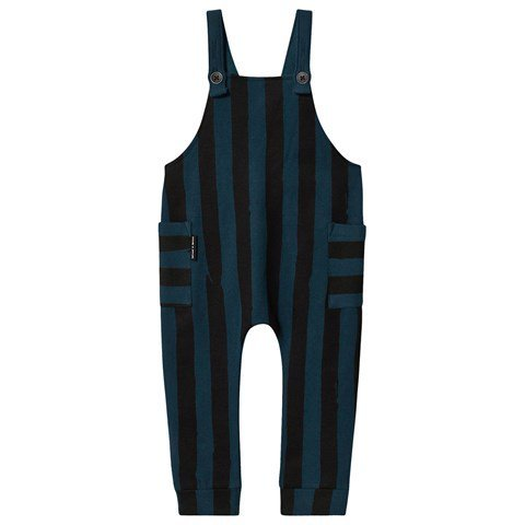 Sproet and Sprout Turquoise and Black Striped Dungarees