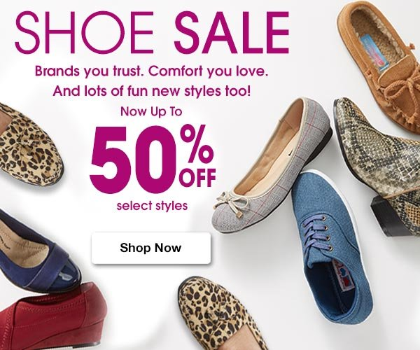 Shop Women's Shoe Sale! Now Up To 50% OFF Select Styles