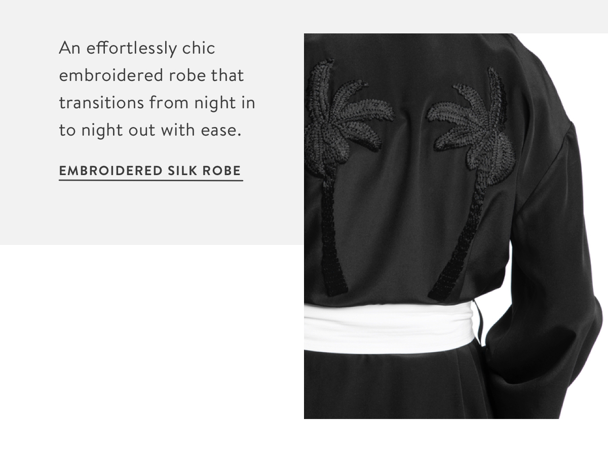 Embroidered Silk Robe