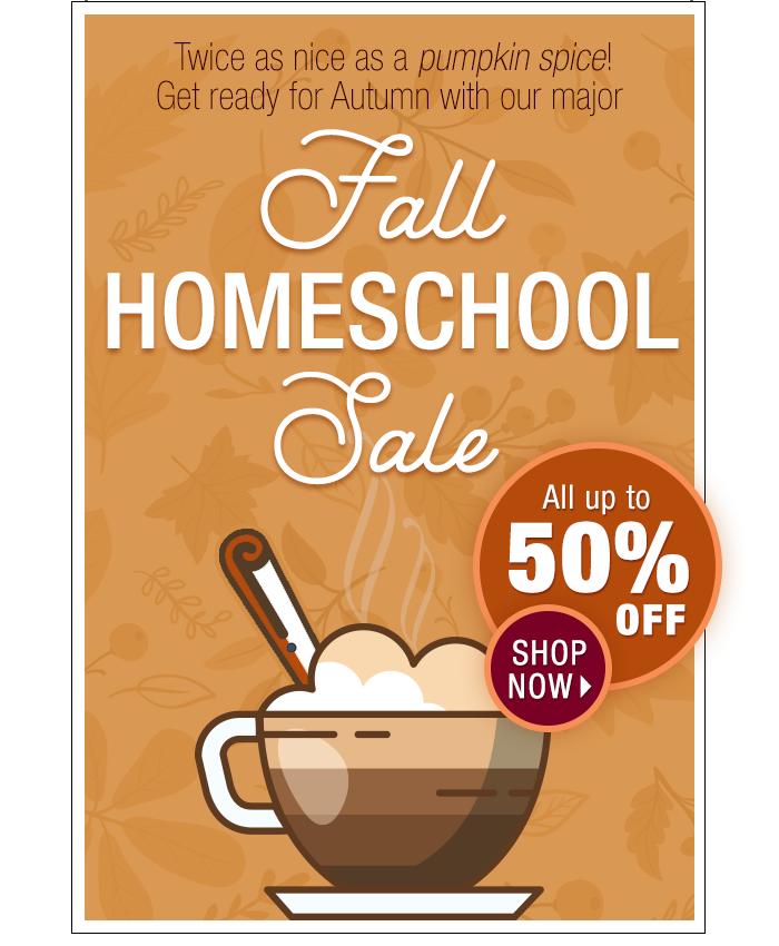 Fall Homeschool Sale