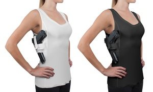 Women's Compression Concealed Carry Holster Tank Top Shirt