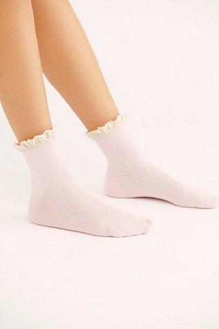 Darling Waffle Knit Ankle Socks