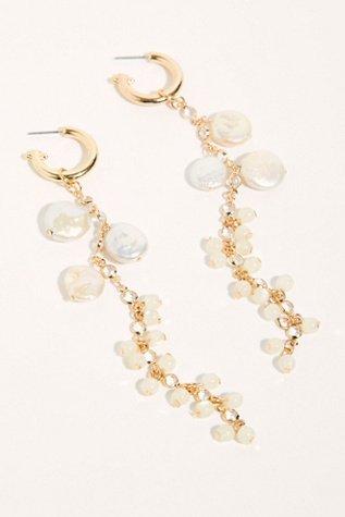 Cascading Pearl Dangle Earrings