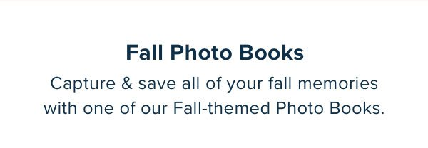 New In! Fall Photo Books