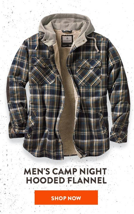 Men's Camp Night Hooded Flannel
