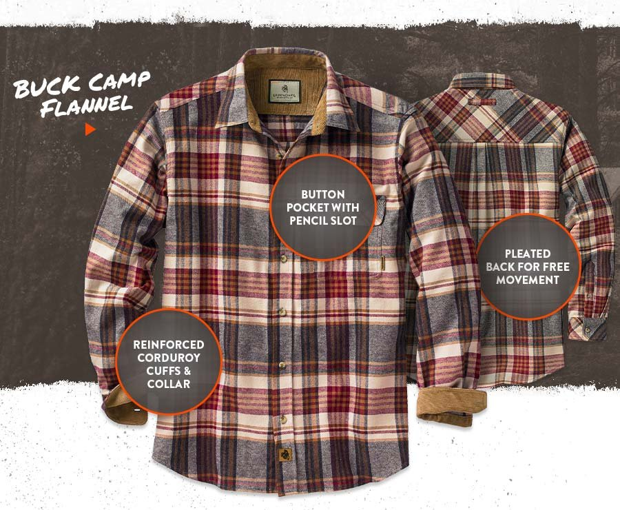 Buck Camp Flannel - Features