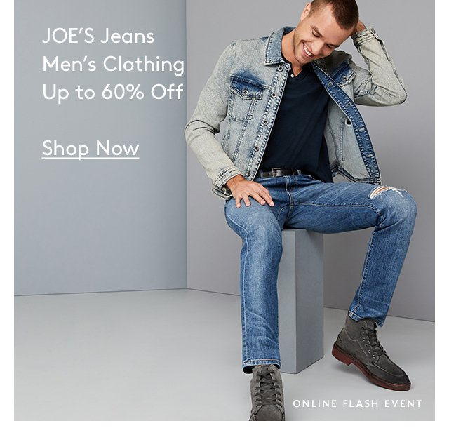 JOE's Jeans | Men's Clothing | Up to 60% Off | Shop Now | Online Flash Event