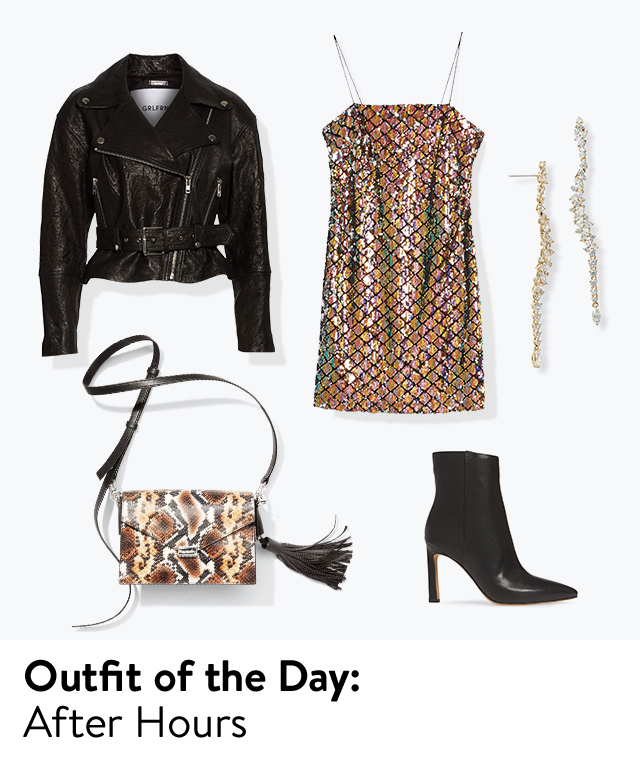 Outfit of the day: after-hours look.