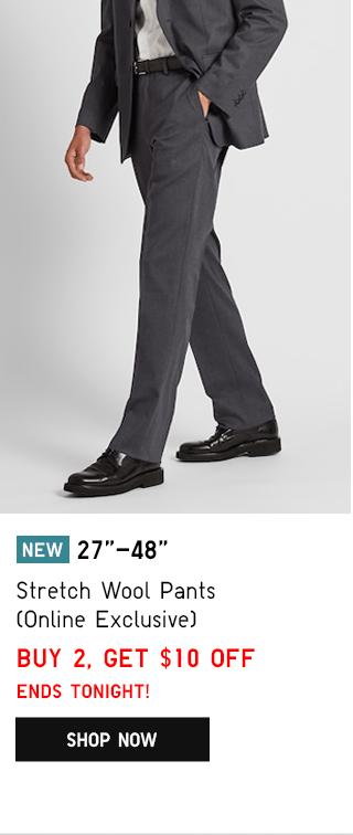 BODY1 PDP1 - MEN STRETCH WOOL PANTS