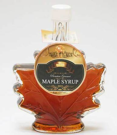 Image of Pure Maple Syrup - Maple Leaf Bottle