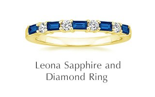 Leona Sapphire and Diamond Ring