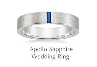 Apollo Sapphire Wedding Ring