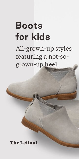 Drizzle Grey Suede Youth Leilani Booties