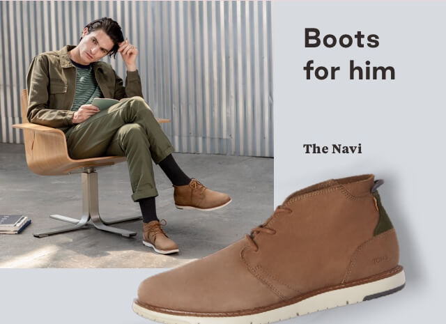 Cedar Brown Suede Men's Navi Boots