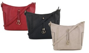 MKII Katie Crossbody Hobo Bag with Whipstitch