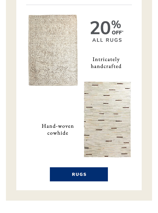 Patchwork Ivory Cowhide Rug and Hayley Warm Gray Rug