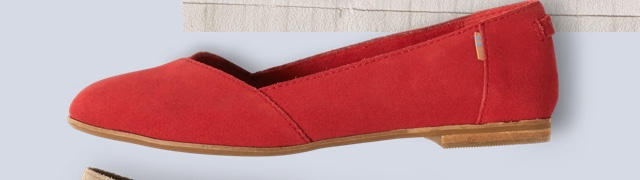 Poinsettia Suede Women's Julie Flats