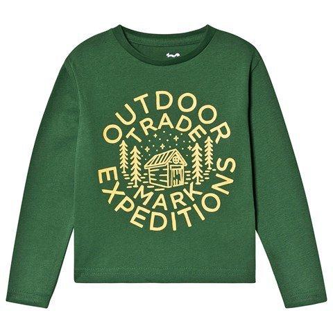 Cyrillus Green Buffalo Print T-Shirt