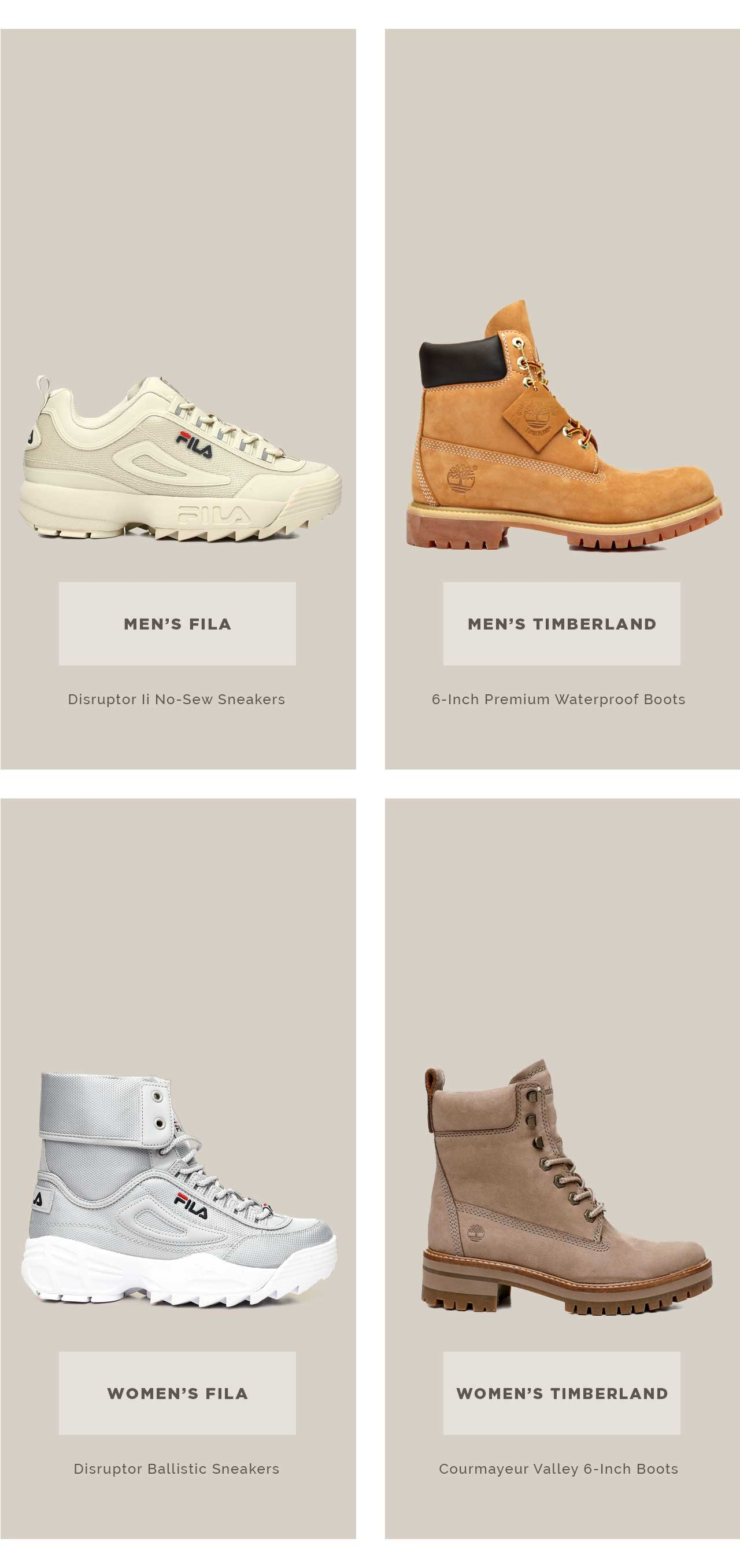Shop New Sneakers and Boots at DrJays.com