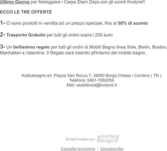 KVSTORE: KVstore presenta le offerte dei Carpe Diem Days ...