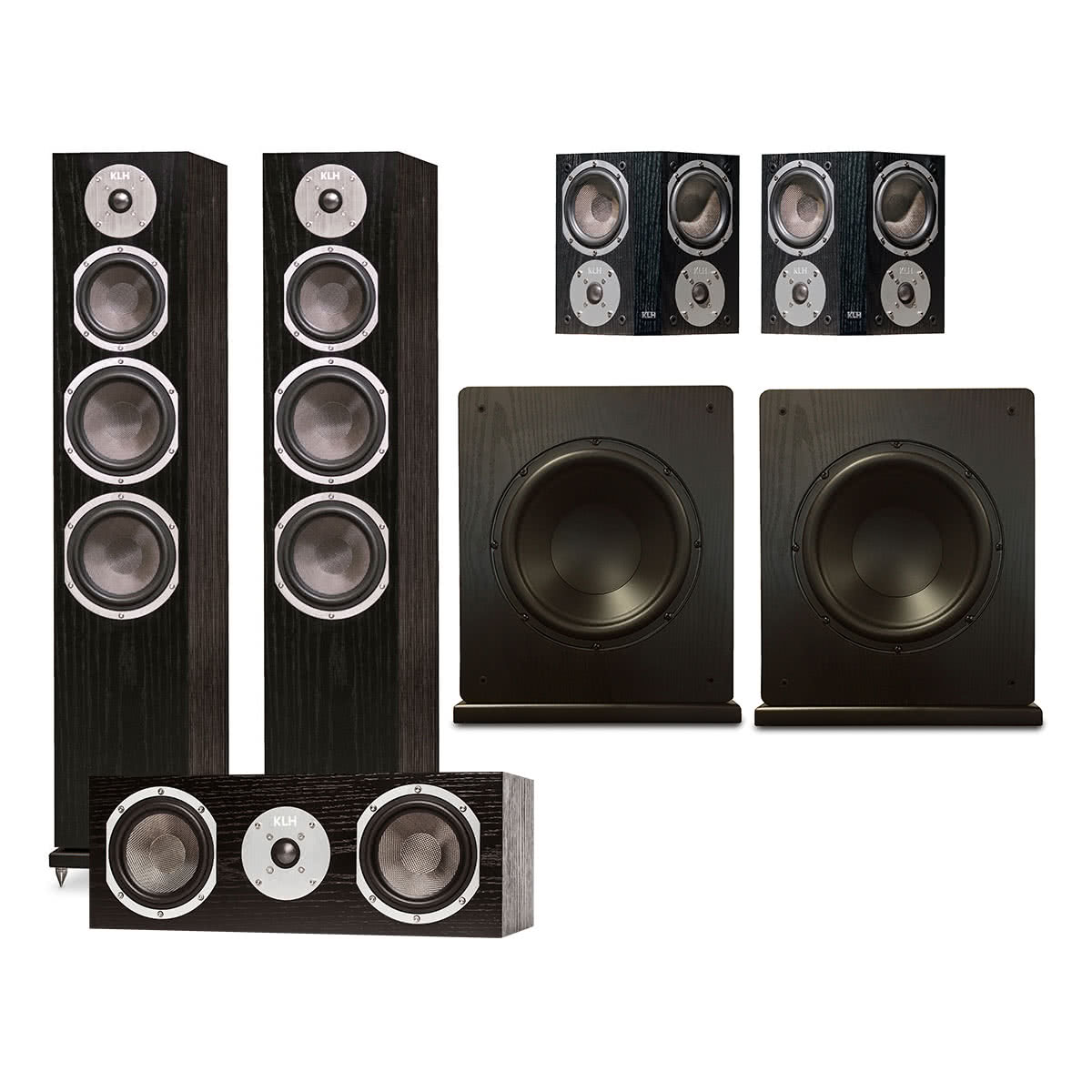 KLH Kendall 5.2 Channel Speaker System (Black Oak)