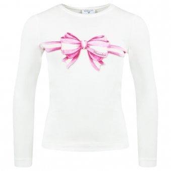 Monnalisa L/s T Shirt Ivory