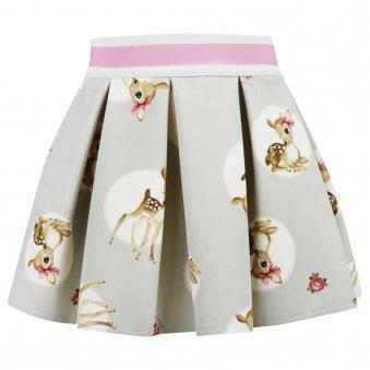 Monnalisa Skirt Light Grey