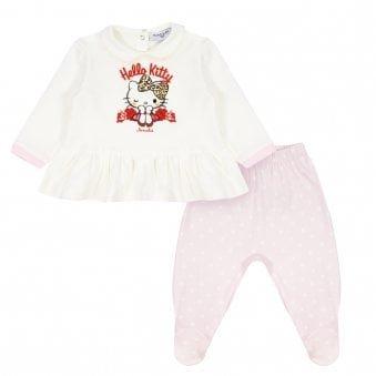 Monnalisa Set Ivory & Pink