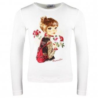 Monnalisa T Shirt Ivory