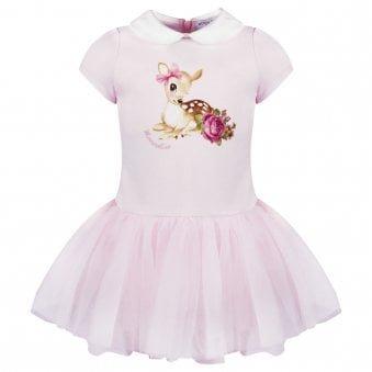 Monnalisa Dress Pale Pink