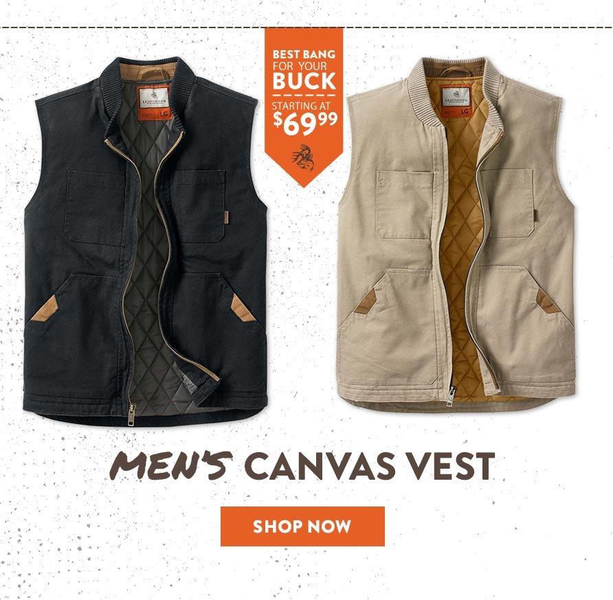 Men's Canvas Vest - Shop Now