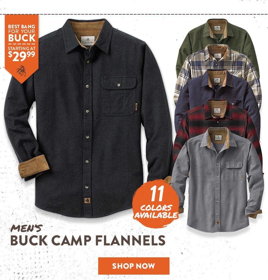Men's Buck Camp Flannels - Shop Now