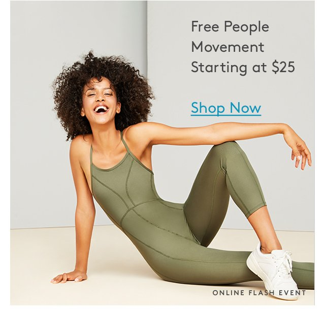 Free People | Movement | Starting at $25 | Shop Now | Online Flash Event