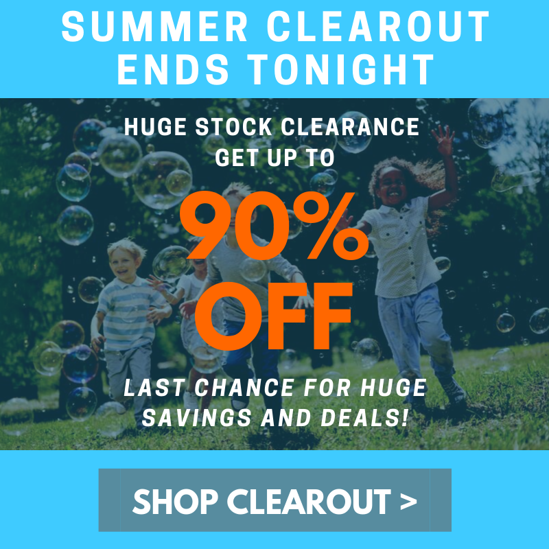 90% Clearout Ends Tonight