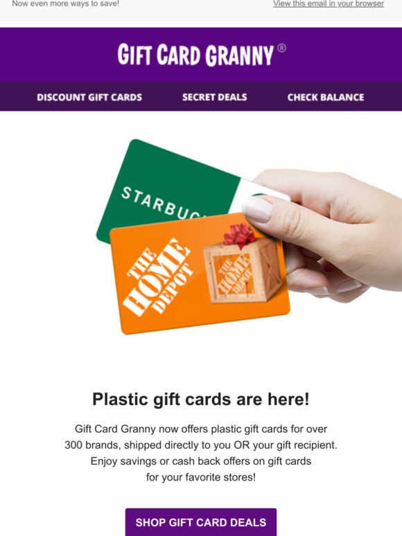 Gift Card Granny Plastic Gift Cards Now Available Directly Through Gift Card Granny Milled