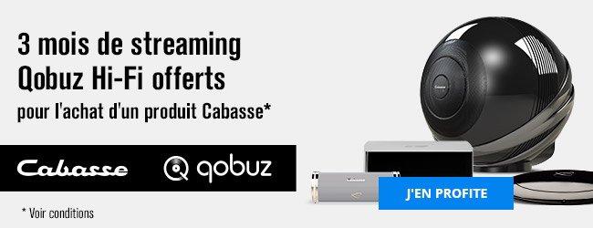 3mois de streaming Qobuz Hi-Fi offerts pour l'achat d'un produit Cabasse (voir conditions). J'en profite.