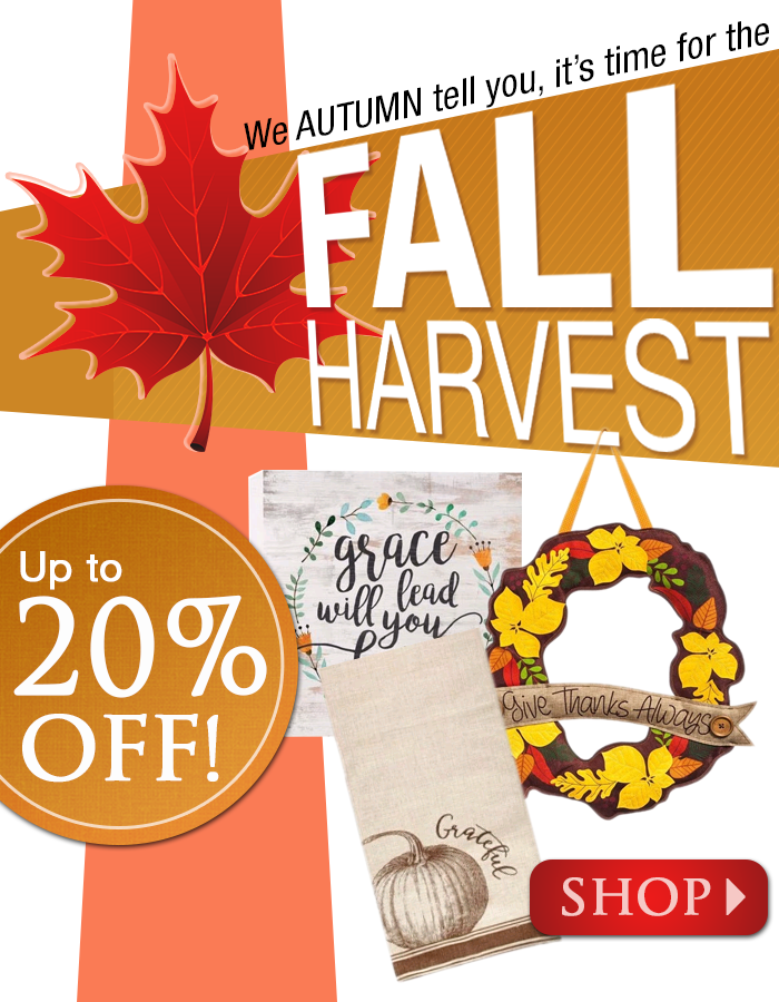 Fall Harvest Sale – up to 20% off