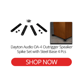 Outrigger Speaker Spike Set with Steel Base OA-4 4 Pcs Dayton Audio