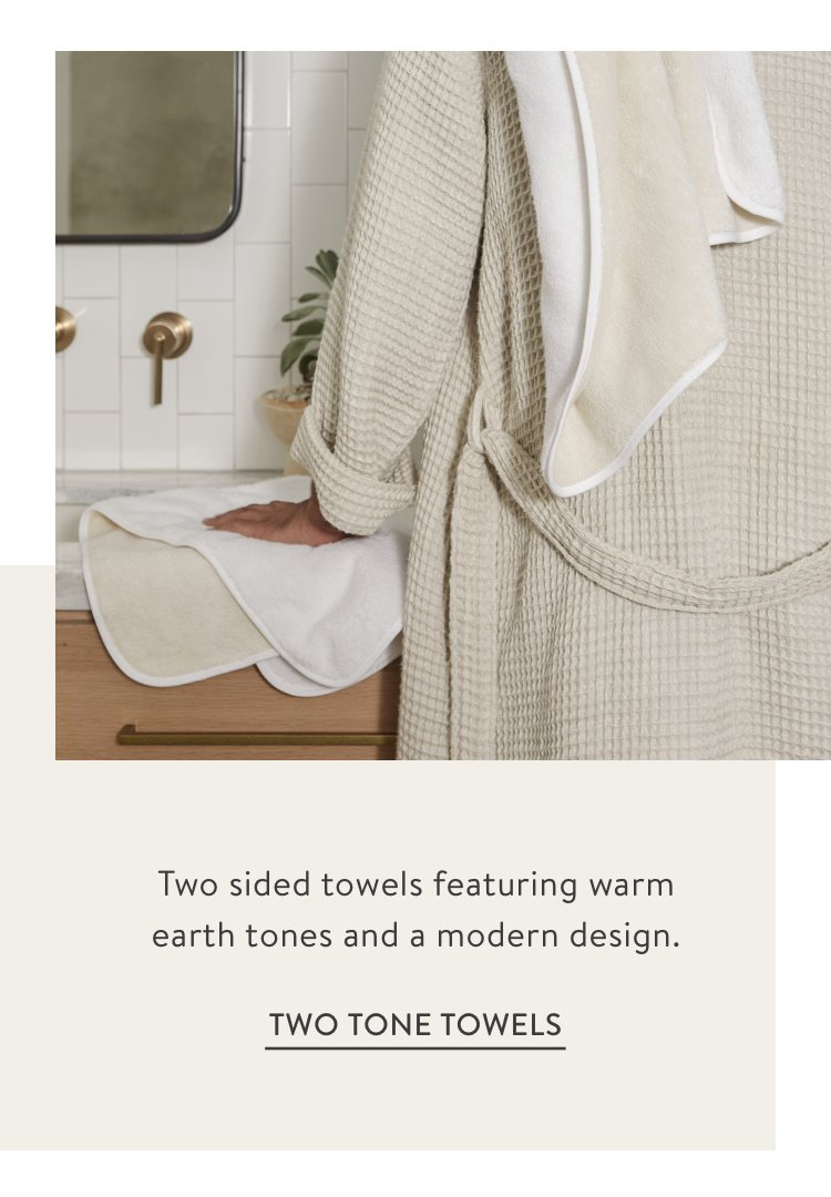 Two Tone Towels - Ivory