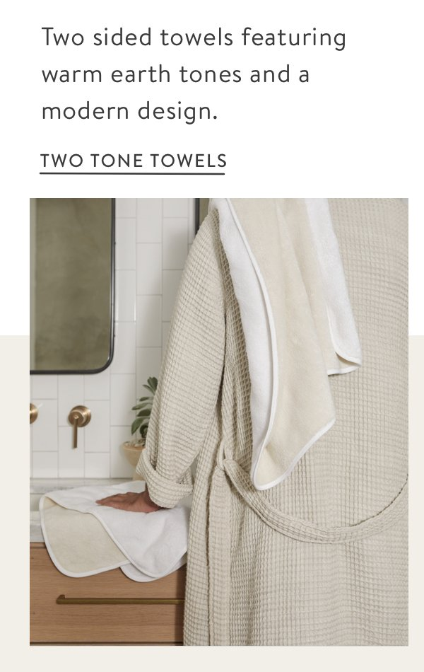 Two Tone Towels - White/Ivory