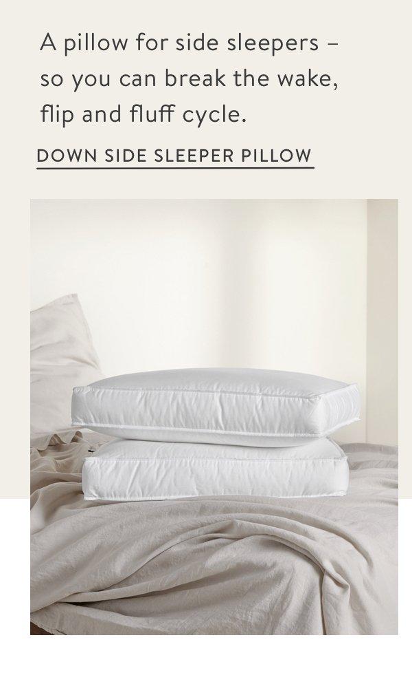 Down Side Sleeper Pillow - Standard