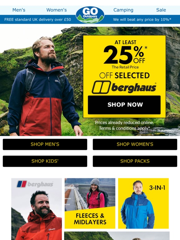 wholesale price high quality new high Go Outdoors: At least 25% OFF Berghaus...Time to get out ...