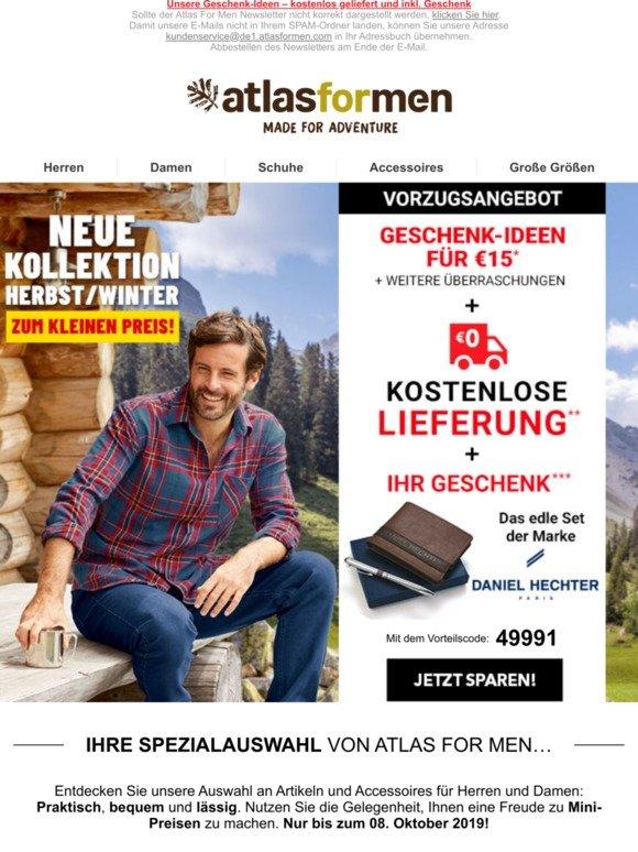 erstaunliche Qualität angenehmes Gefühl Preis Atlas for Men: Ihr Geschenk: eine Brieftasche zum neuen ...