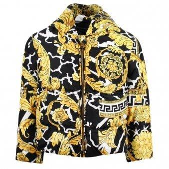 Versace Down Jacket Black