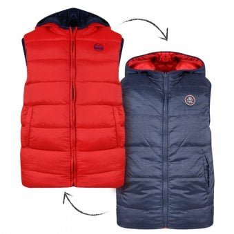 Mayoral Reversible Gilet Navy & Red