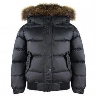Pyrenex Aviator Fur Jacket Black