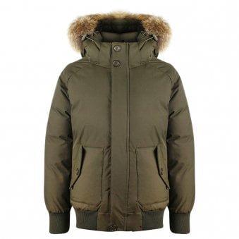 Pyrenex Jami Fur Jacket Sage Green