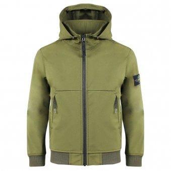 Stone Island Junior Light Coat Green