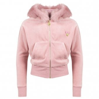 Angels Face Hooded Sweatshirt Rose