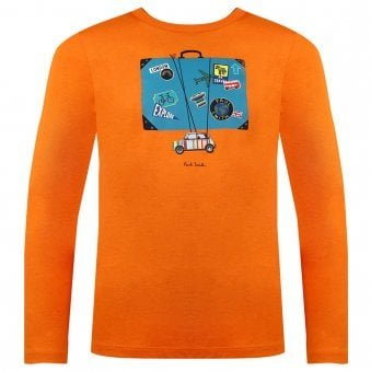 Paul Smith Junior Villy T Shirt Pumpkin Orange